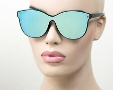 Large Ultra Flat Lenses Mirror Wayfarer Sunglasses Retro Colors 808