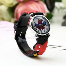 Spiderman Wrist Watch Marvel Spider Man Children Kids Boys Rubber School Gift
