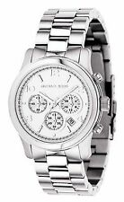 NEW Michael Kors MK5076 Runway Silver Stainless Steel Chronograph Women's Watch