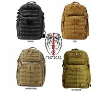 5.11 TACTICAL RUSH 24 BACKPACK COLORS BLACK, FDE, OD GREEN, SANDSTONE