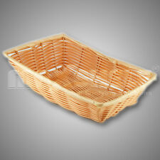 "6 x POLYWICKER BREAD BASKET 16"" TRAY BROWN SUPERMARKET BAKERY GROCER"