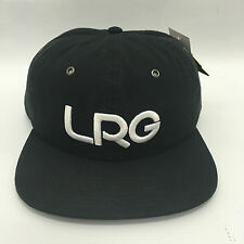 Lifted Research Group Rip Stop Strapback Hat skateboard Black One Size LRGRS