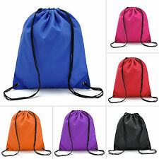 Waterproof Drawstring Cinch Sack Backpack School Tote Gym Beach Travel Sport Bag
