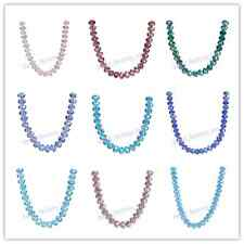 100/500pcs 6x4mm Charms Glass Crystal Rondelle Loose Beads 111Colors Findings