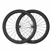 700C 60mm Straight Pull Carbon Road Bike Wheels Bicycle Touring Wheelset 25mm