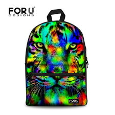 Animal Backpack Canvas School Shoulder Book Bag Sport High capacity Women Men