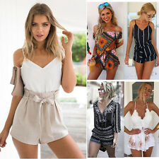 Sexy Summer Womens Celeb Mini Crop Playsuit Ladies Shorts Jumpsuit Beach Romper