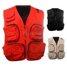 Breathable Utility Fly Fishing Vest Hunting Camping Travel Jacket 62.5-115kg