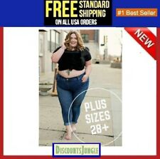 Avenue EXTENDED PLUS SIZE WOMENS Jean Stretch DENIM JEANS PANTS UP TO 8X & 28+