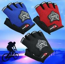 Outdoor Sports Cycling Bicycle Bike Gel Half Fingers Fingerless Gloves Adult&Kid