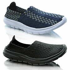Mens Slip On Casual Walking Sports Summer Plimsolls Trainers Pumps Shoes Size UK
