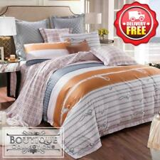 5pcs Bed Set Quilt Cover + Fitted + Flat Sheet + pillowcases   400TC 60S Cotton