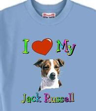 T Shirt Big Dog  I Love My Jack Russell  5 Colors # 489 Men's Women Adopt Rescue