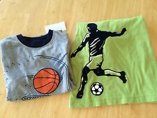 Gymboree Boys T Shirt Top Basketball SZ 5 6 7 NEW