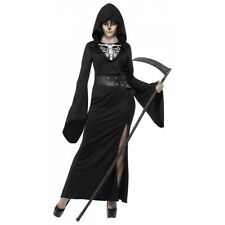 Grim Reaper Costume Adult Female Angel of Death Halloween Fancy Dress