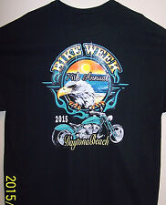 2015 Daytona Beach Bike Week T Shirt Sz Sm - 6XL EAGLE ON THE BEACH AT SUNRISE