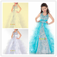 Flower Girl Dresses for Wedding Bridesmaids Prom Ball Gown kids Party birthday