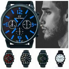 5 Styles Black Silicone Oversized Racing Sports Mens Watch Silicone Strap Gifts