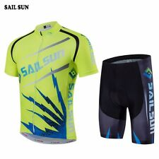 SAIL SUN Team Mens Wear Riding Bike Bicycle Cycling Jersey Shirt Bib Shorts Sets