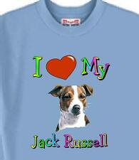 Big Dog T Shirt  I Love My Jack Russell  5 Colors # 956 Men Women Adopt Rescue