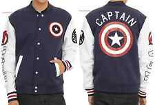 MARVEL CAPTAIN AMERICA VARSITY JACKET FOR ADULTS FREE PRIORITY SHIPPING