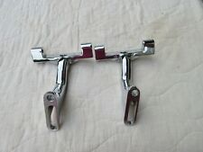 Chrome reduced reach passenger footboard brackets for Harley Davidson Touring