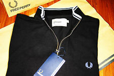 BNWT Bradley Wiggins Fred Perry Back & Sky Blue Zip Cycling Top Size Medium