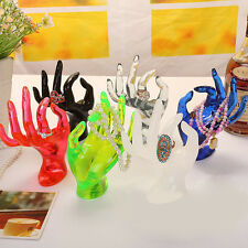 New Jewelry Ring Bracelet Necklace Hanging Hand Display Holder Stand Show Rack#L