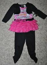 NWT-Girls 2 pc Mummys Little Princess Halloween Dress & Leggings-sz 12 & 18 mths
