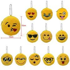1x Cute Mini Emoji Coin Purse Case Soft Plush Bag Wallet Holder for Women Girl