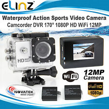 Sports Action Cam Camera Video Camcorder 170° 1080P HD WiFi Waterproof Recorder