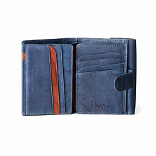 Womens leather wallet Old Effect Ladies Purse with Snap Closure / Coin Pocket /