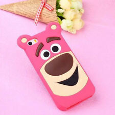 For Apple iPhone 6 6Plus Cartoon Flat Strawberry Bear Soft Silicone Case Cover