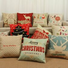 New Soft Christmas Tree Car Bed Sofa Throw Home Pillow Case Waist Cushion Cover