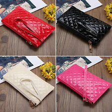 Women Lady Soft PU Leather Clutch Wallet Long Card Holder Coin Purse Bag Handbag