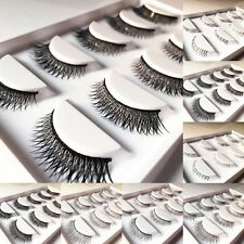 5 Pairs Long Cross False Eyelashes Makeup Natural Fake Eye Lashes Handmake 05a