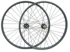 29er MTB XC Mountain Bike Bicycle Carbon Clincher Wheel Set 27mm Width 24mm Rims