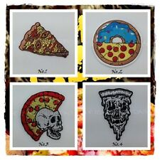 Pizza Zombie Embroidered Sew On Patch Iron Appliques Logo Symbol Free Shipping
