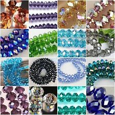 Glass Crystal Faceted Rondelle Spacer Loose Beads 6/8/10/12/14/16/18mm DIY Craft