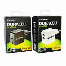 Genuine Duracell 2.4A 2 Pin EU USB Mains Wall Charger Adapter For Smartphone Tab