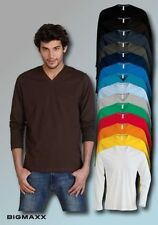 KARIBAN men'S long sleeve T-Shirt with V-Neck V-Neck in 19 Colours Size S to 4XL