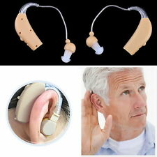 Rechargeable Hearing Aids Personal Sound Voice Amplifier Behind The Ear 3 Plugs