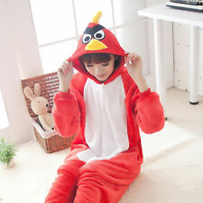 Unisex Kigurumi Pajamas Adult Anime Cosplay Costume Onesie Dress Angry Birds