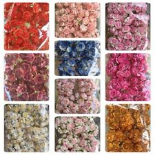 50 Artificial Mulberry Paper flowers Handmade Scrap-booking Tiny Rose 25 mm #CA