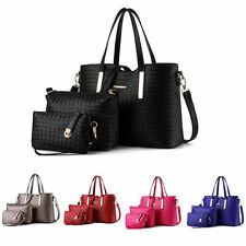 3pcs Women Leather Handbag Shoulder Bag Messenger Satchel Tote Purse Hobo Bag