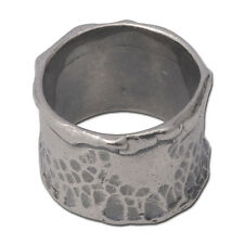 Handcrafted oxidized 925 sterling silver Ring band size 6 - 9
