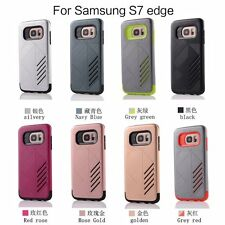 Hybrid Hard Rigid Plastic TPU Rubber Cover Case Skins For Samsung Galaxy Series