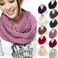 1Pc Knitted Hood Neck Circle Cowl Wool Scarf Shawl Wrap Loop Winter Warmer New X