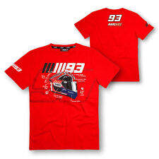 MARC MARQUEZ MENS HELMET T-SHIRT TEE RED MOTOGP SIZES S M L XL 2XL