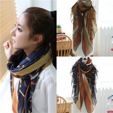 Women Ladies Voile Soft Long Neck Scarf Girls Large Wrap Shawl Scarves Stole   X